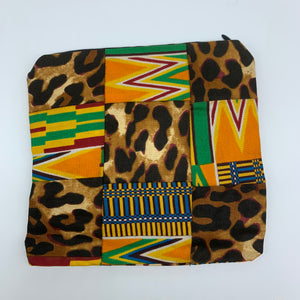 African Print Zoba Zoba Make Up Bag/ Pouch-M Multi Colour 11 - Lillon Boutique