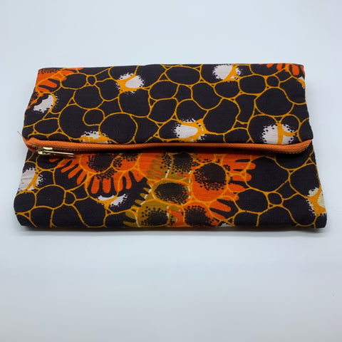 African Print Clutch- S Brown Variation - Lillon Boutique