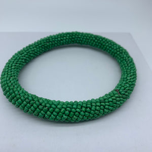 Beaded Bangle-Green - Lillon Boutique