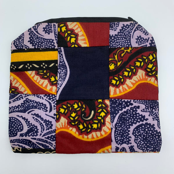 African Print Zoba Zoba Make Up Bag/ Pouch-M Multi Colour 12