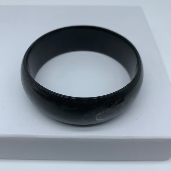 Cow Horn Bangle-L Black Variation 5