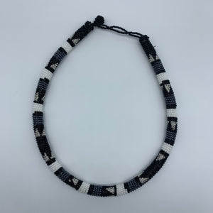 Beaded Bangle Necklace-Black Variation 2