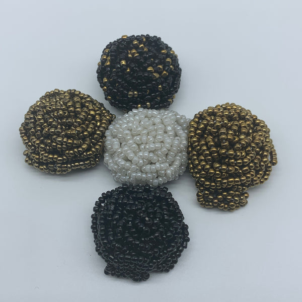 Beaded Ring-Black Variation 2