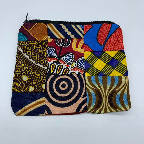 African Print Zoba Zoba Make Up Bag/ Pouch-M Multi Colour 2