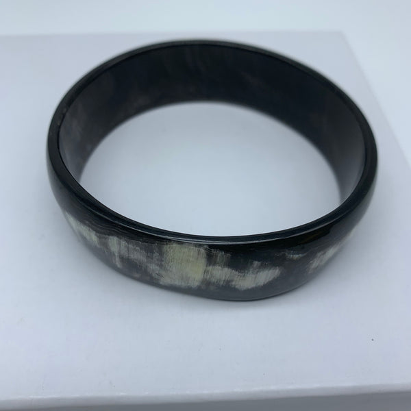 Cow Horn Bangle-L Black Variation 6