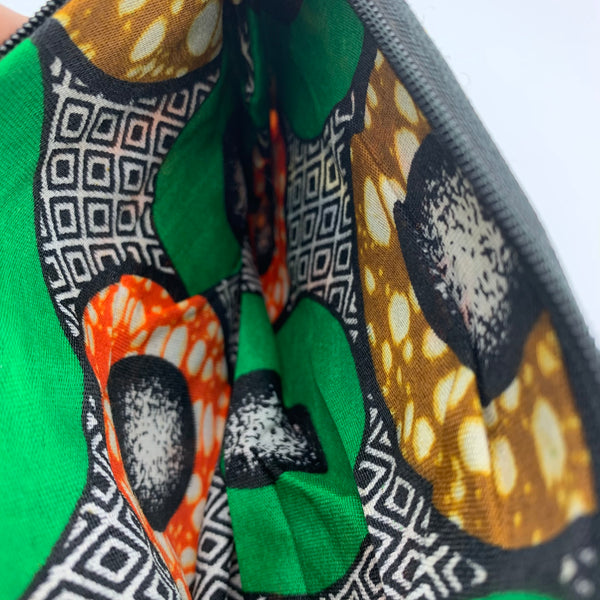 African Print Zoba Zoba Make Up Bag/ Pouch-M Multi Colour 18