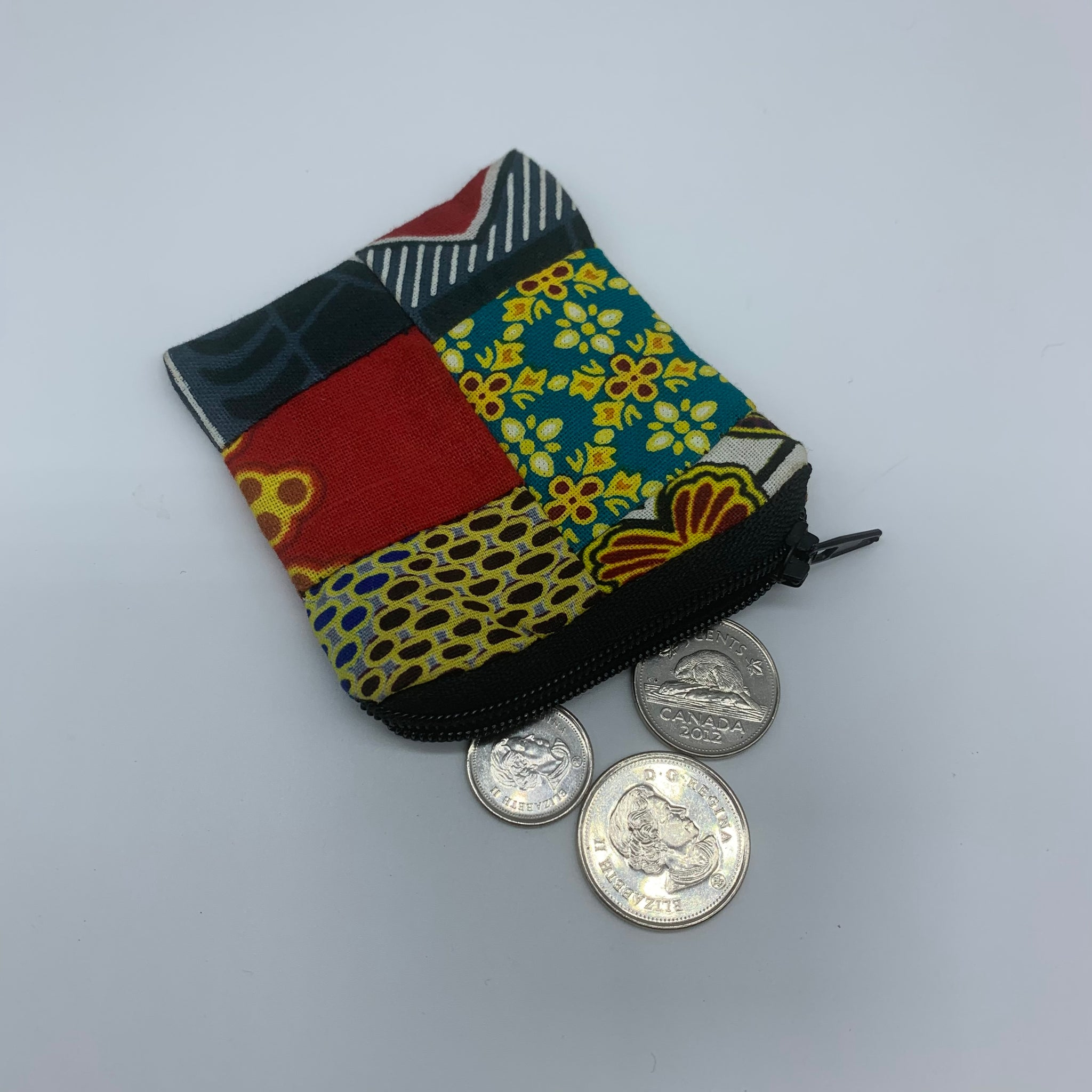 African Print Coin Purse- Zoba Zoba Multi Colour 2 - Lillon Boutique