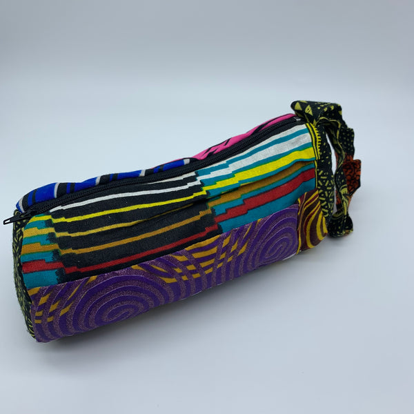 African Print Makeup bag/Pencil case-Zoba Zoba Multi Colour 2