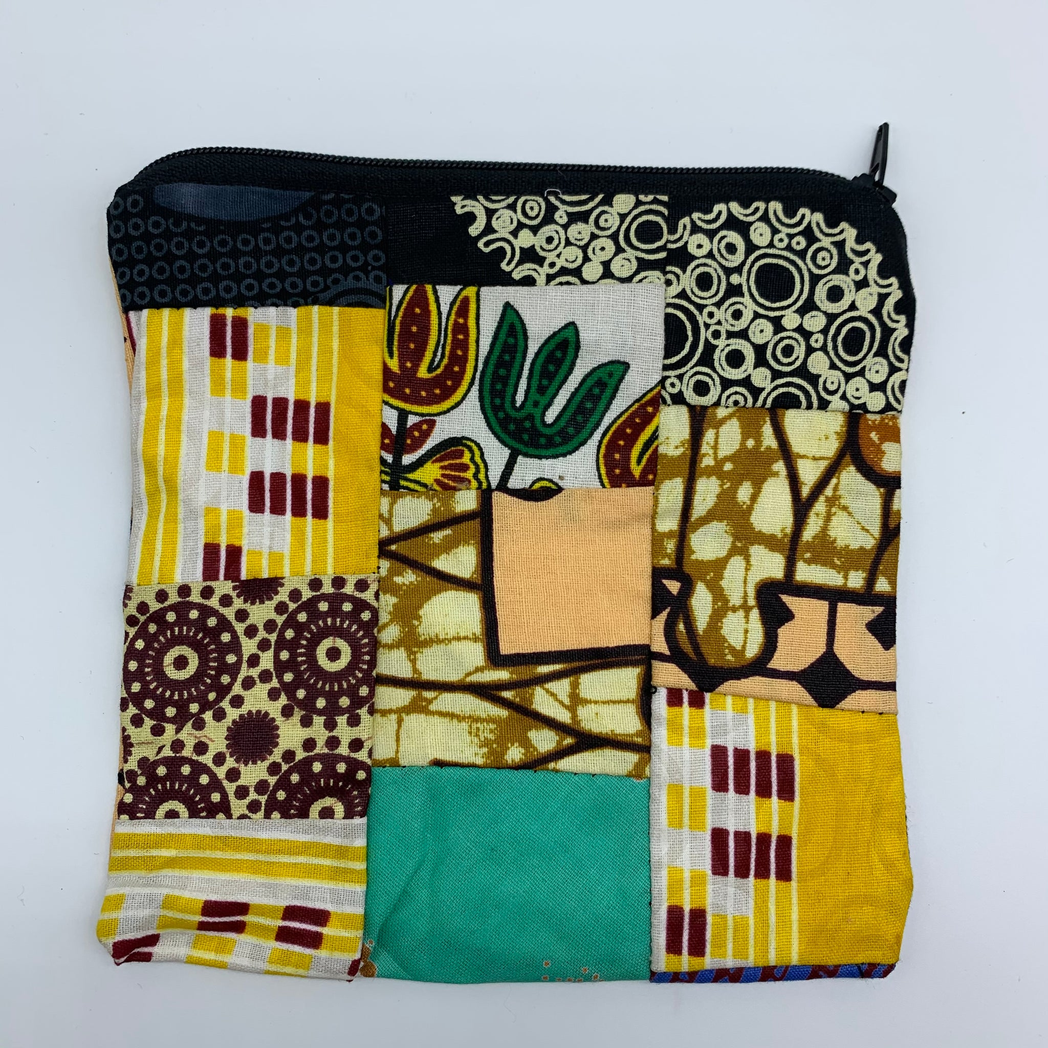 African Print Zoba Zoba Make Up Bag/ Pouch-M Multi Colour 7