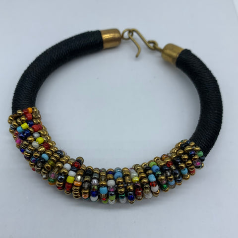 Beaded Thread Bangle-Black Variation
