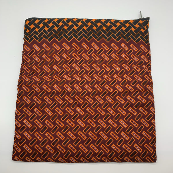 African Print Clutch- L Red Variation Variation
