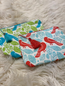 Travel/Cosmetic Bag (Coral/Blue)