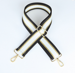 Black and Gold Strip Strap
