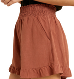 Terracotta Ruffle Shorts