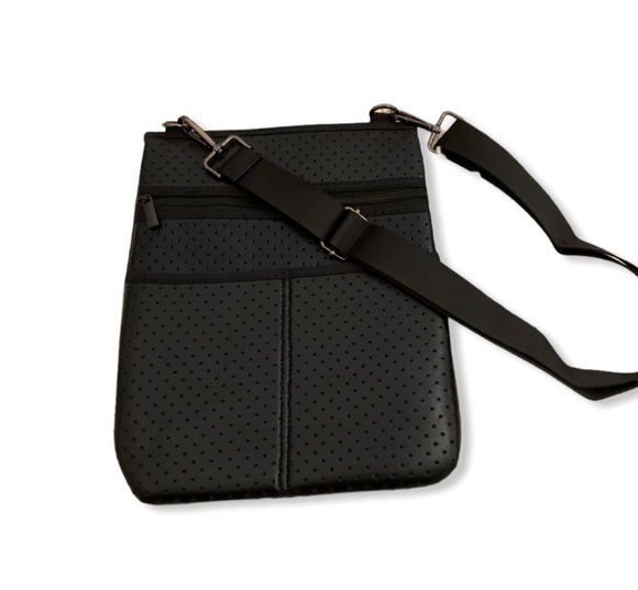 Black Neoprene Crossbody
