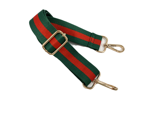 Green/Red Stripe (Gold Hardware) Strap