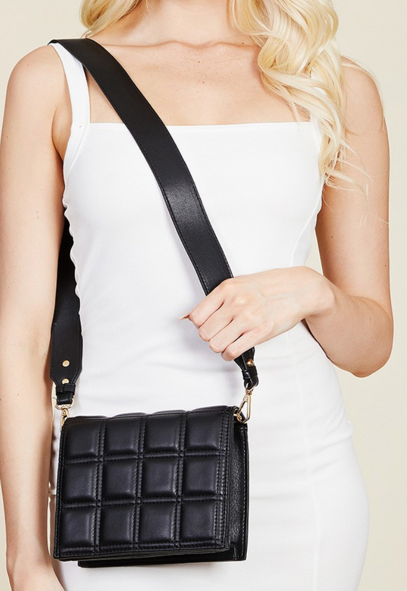 Square Quilted Crossbody Bag