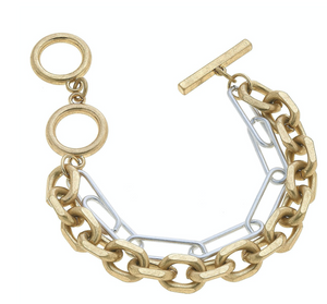 Victoria Layered Chain Bracelet