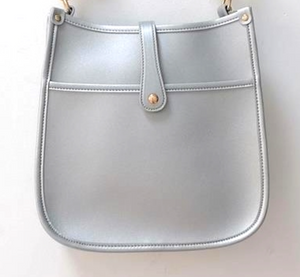 Vegan Messenger Bag Silver