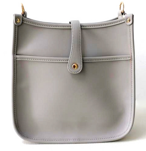 Vegan Messenger Bag Gray