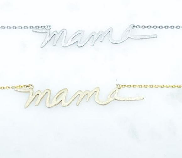 Mama Necklace (Silver)