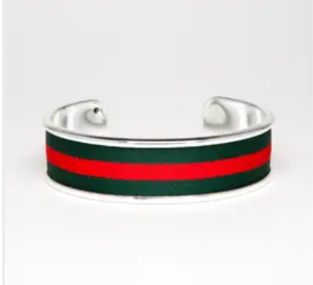 Red and Green Stripe Cuff