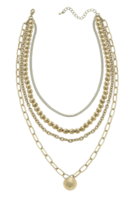 Talk to Me Gold Layered Necklace