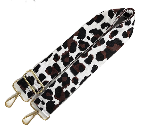 White and Brown Cheetah Strap