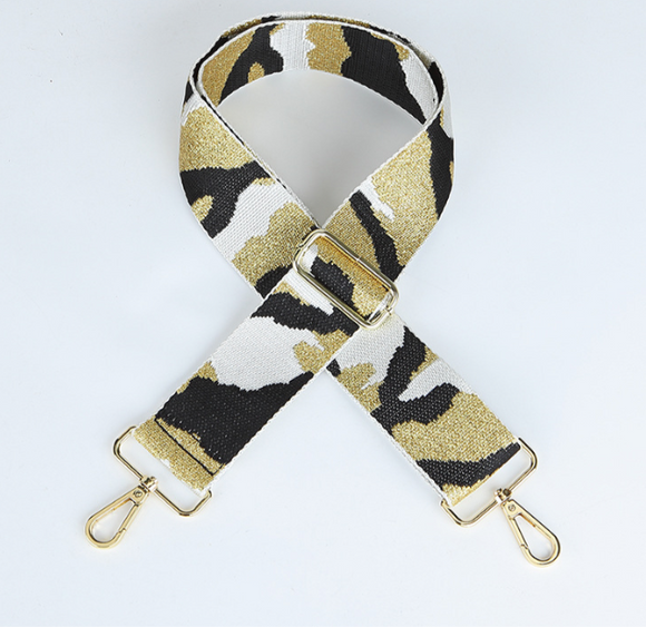 Gold and White Camo Strap