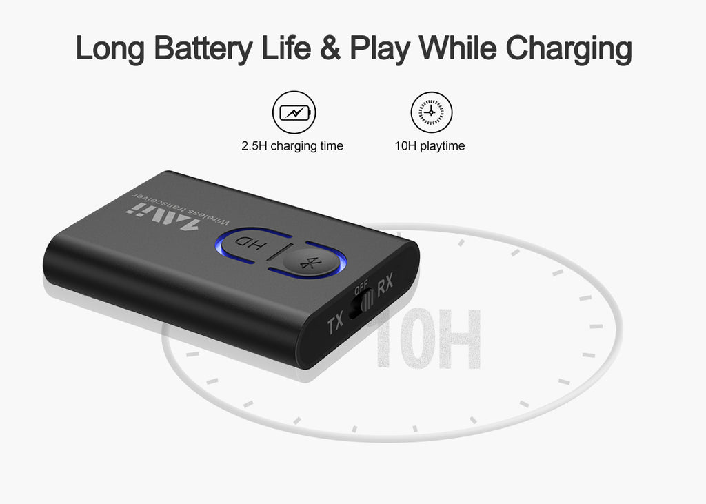 Long Battery Life & Play While Charging