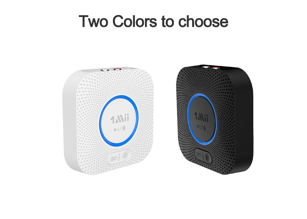 two colors of 1Mii B06 Wireless Bluetooth Receiver