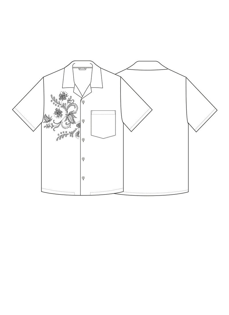 PJ Shirt w Embroidery