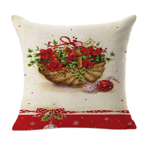 Christmas Linen Square Pillow Case - My Amazing Treasures