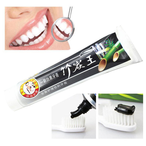 Natural Bamboo Charcoal Black Whitening Toothpaste - My Amazing Treasures
