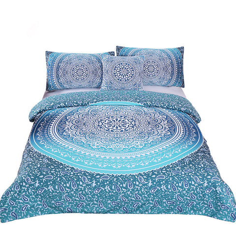 Bedding Set Queen Crystal Arrays Duvet Quilt Cover with Pillow Case 4 Pcs - My Amazing Treasures