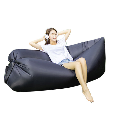 Inflatable Lazy Bag Couch Sleeping Hammock Pool Float Portable for Indoors & Outdoors - My Amazing Treasures