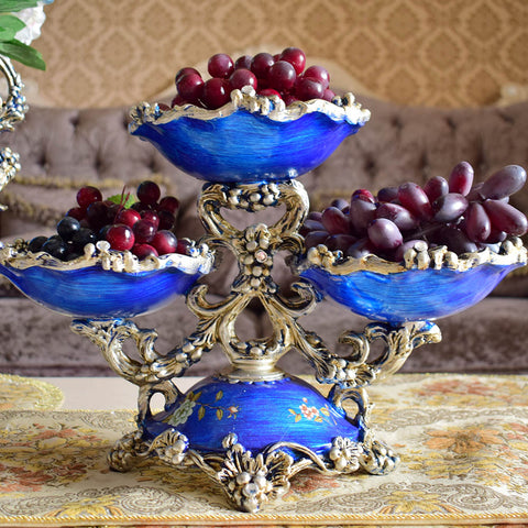 Europe vintage fresh fruit dish plate decorative dinner table home kitchen wedding party - My Amazing Treasures