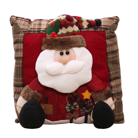 Christmas Throw Pillow Santa Snowman Cloths Cushion - My Amazing Treasures