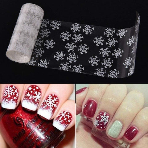 3d Nail Sticker Christmas Theme Pattern Snowflake Image - My Amazing Treasures