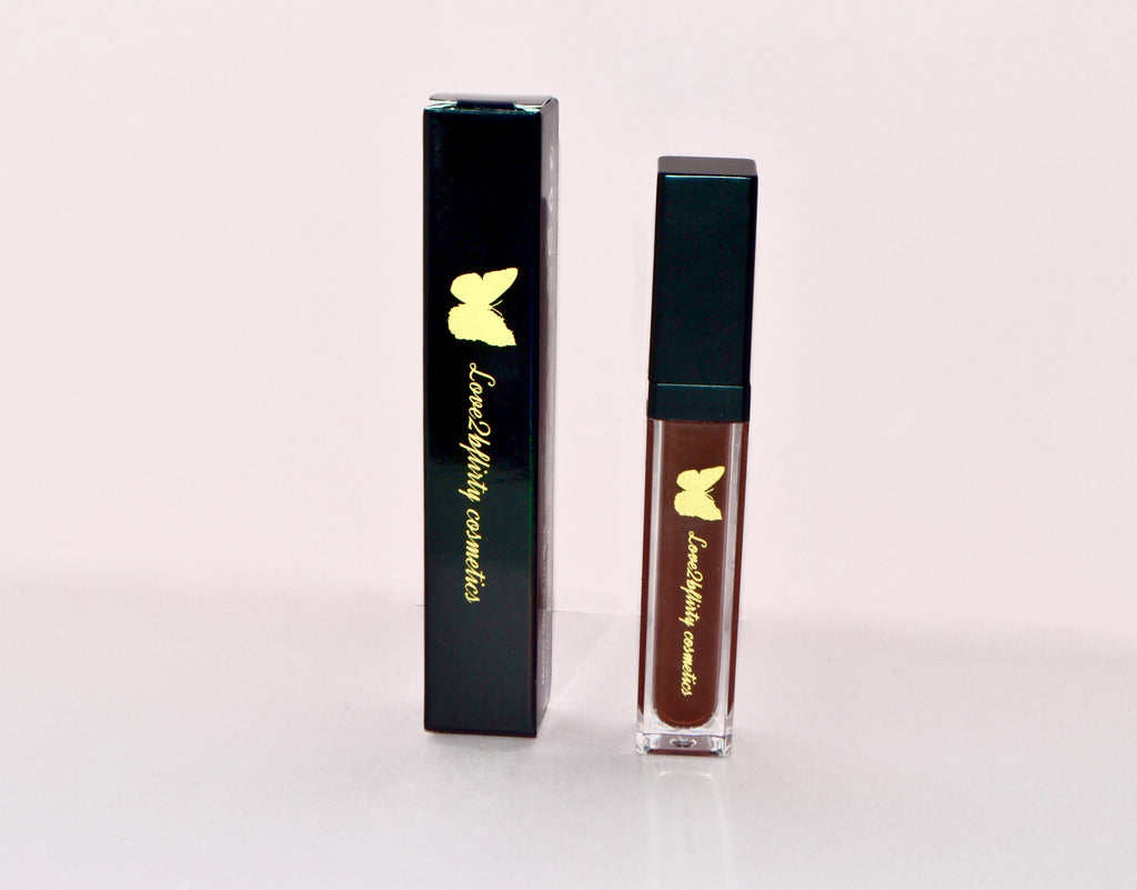 Chocolate Rue Matte Lipstick - LOVE2BFLIRTY COSMETICS