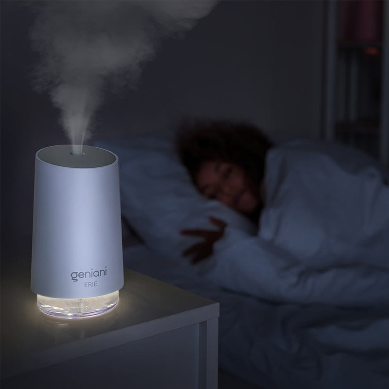 Erie USB Desktop Humidifier: night light