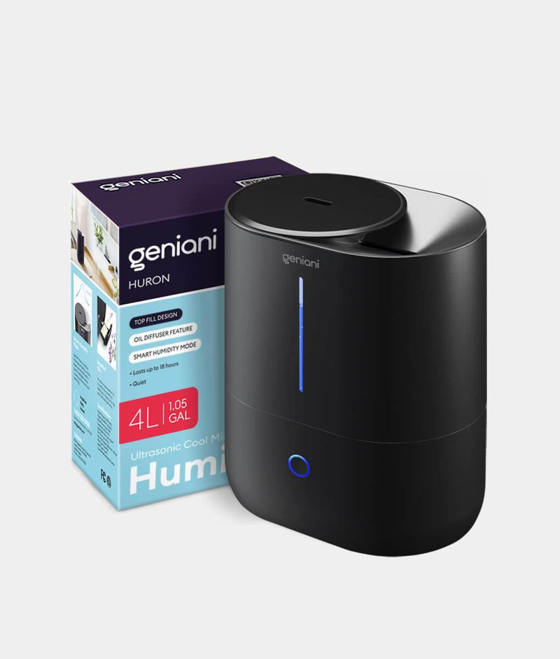 Huron Large Cool Mist Humidifier 4L Black