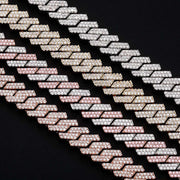 12mm 18k White Gold Plated Miami Square Cuban Link Chain - eGen Club