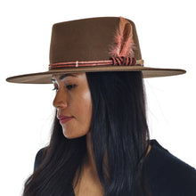Load image into Gallery viewer, Flat Brim Hat - Light Brown
