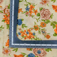 Load image into Gallery viewer, Orange Floral Pattern Cotton Fabric