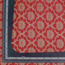 Load image into Gallery viewer, Red Floral Woven Zari Banarasi Fabric