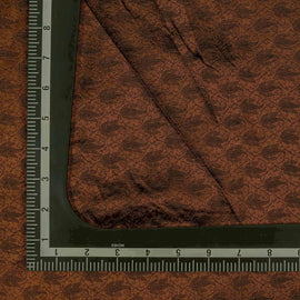 Brown Paisely Pattern Banarasi Fabric