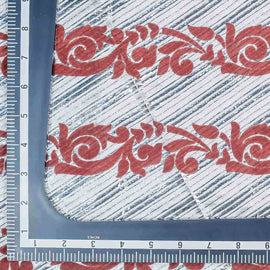 White Stripes with Traditional Pattern Woven Banarasi Fabric