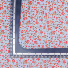 Load image into Gallery viewer, Blue Floral Pattern Screen Printed Cotton Fabric