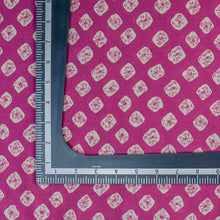 Load image into Gallery viewer, Pink Bandhani Pattern Screen Printed Cotton Fabric